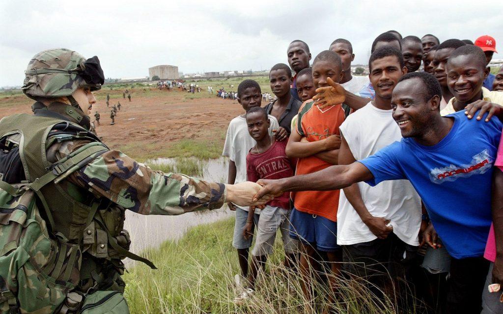 UN soldier in Africa